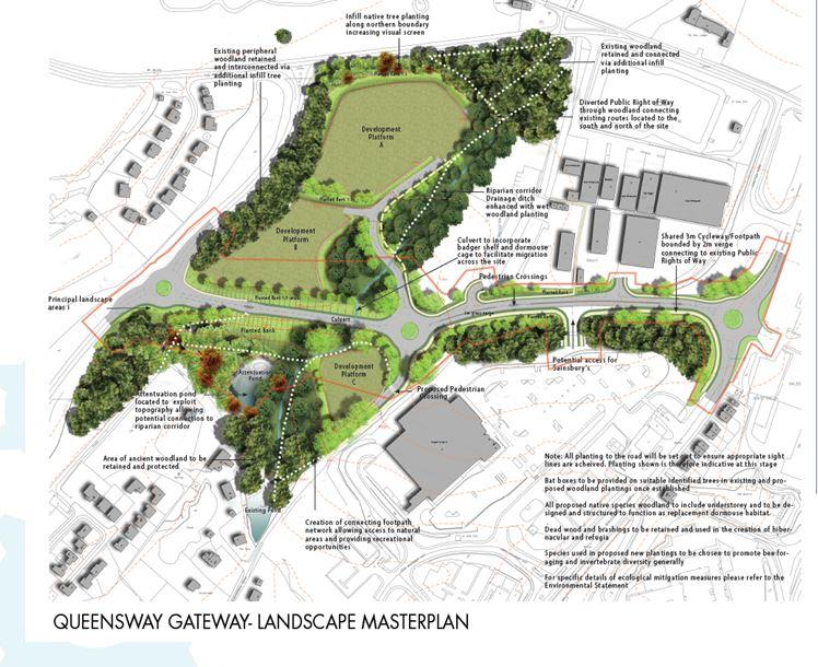 Queensway Gateway landscape masterplan
